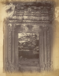 Doorway of the shrine of the Durga Temple, Aihole, Bijapur District